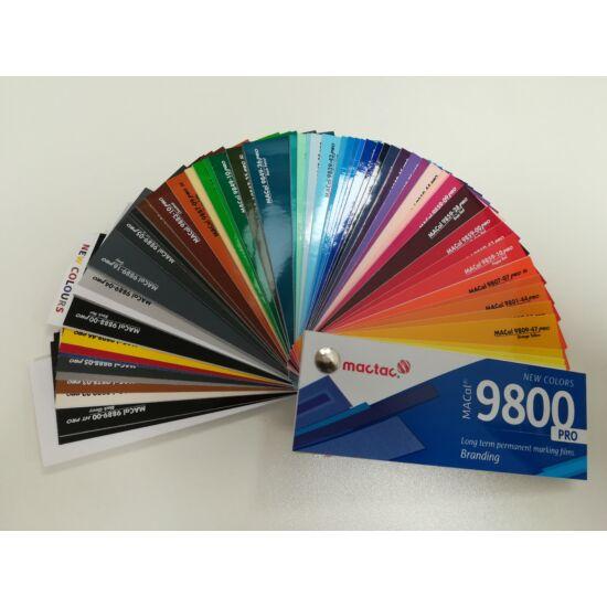 Mactac 9800 színkártya, legyezős