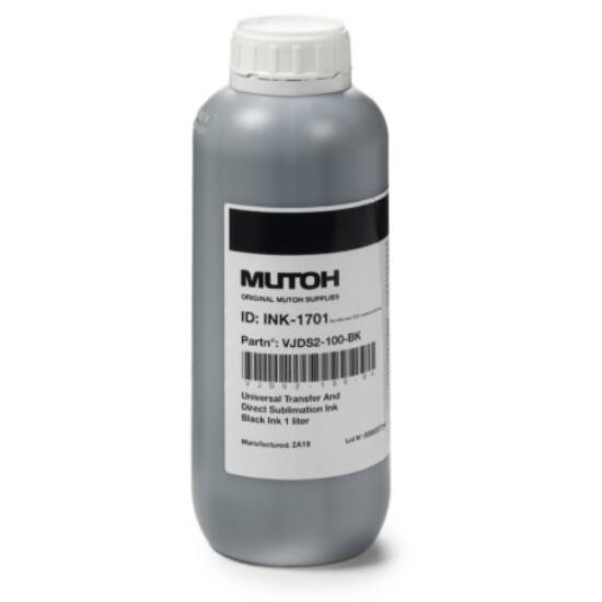 Mutoh DS2 típusú vízbázisú festék transfer és direkt nyomtatáshoz black - 1 liter