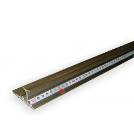 Erősített vonalzó - platina 200 cm