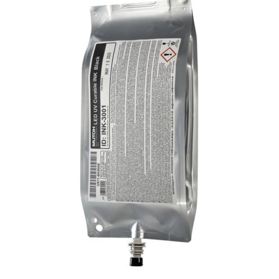 Mutoh VJ1638UH flexibilis Led-UV festék black - 800 ml