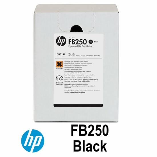 HP FB500/700 - HP FB250 UV festék Black - 3 liter