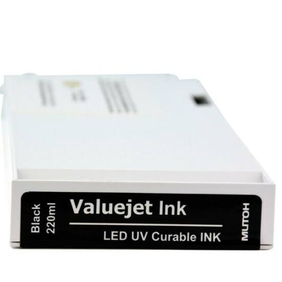 Mutoh VJ426/626 UF nyomtatókba használható - Led-UV festék black - 220 ml
